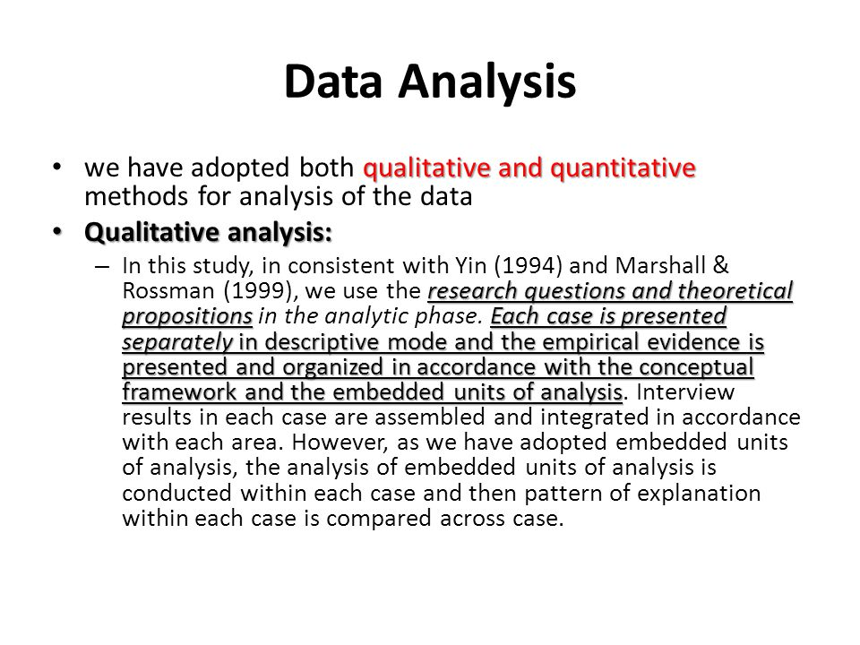 Data Analysis we have adopted both qualitative and quantitative methods for analysis of the data. Qualitative analysis: