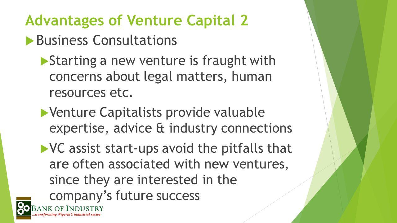 Advantages of Venture Capital 2