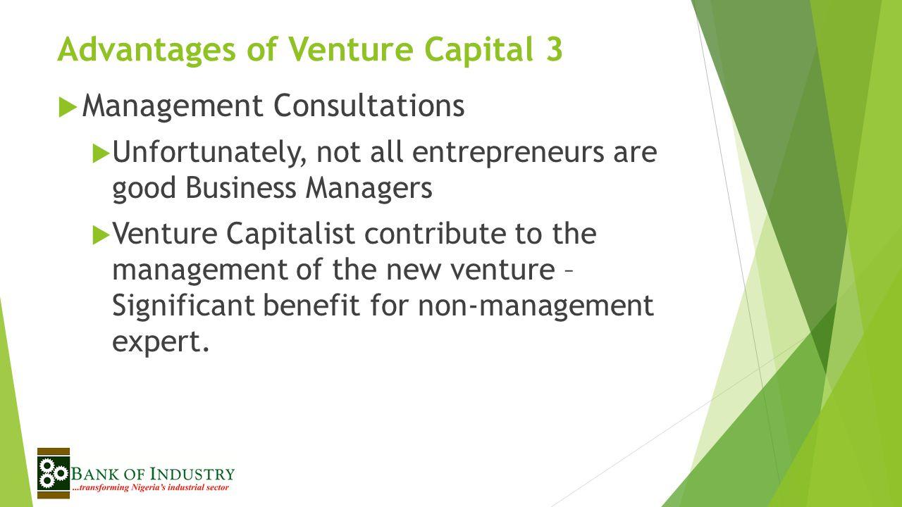 Advantages of Venture Capital 3