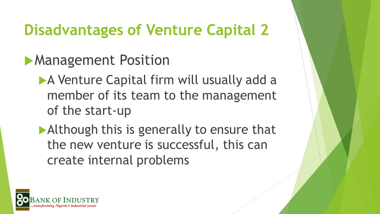 Disadvantages of Venture Capital 2