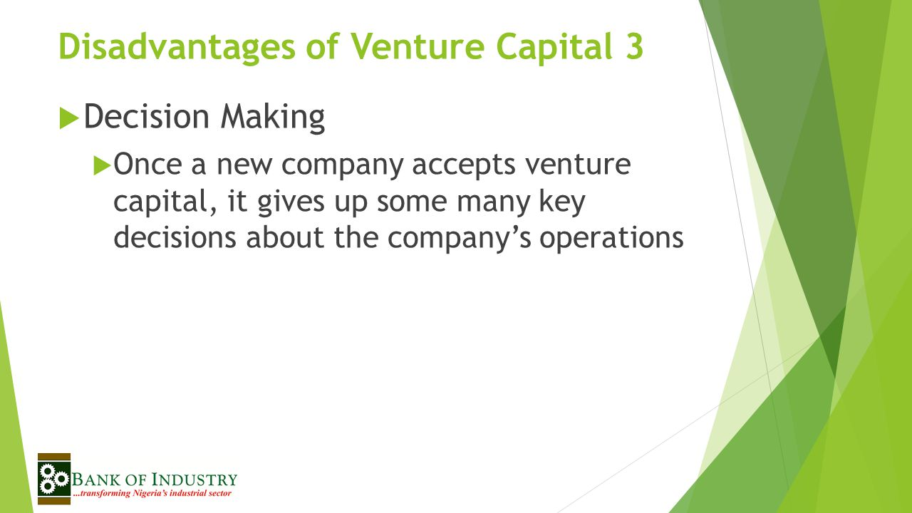 Disadvantages of Venture Capital 3