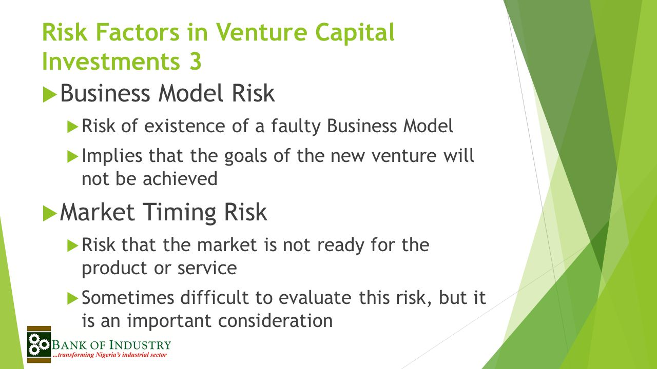 Risk Factors in Venture Capital Investments 3