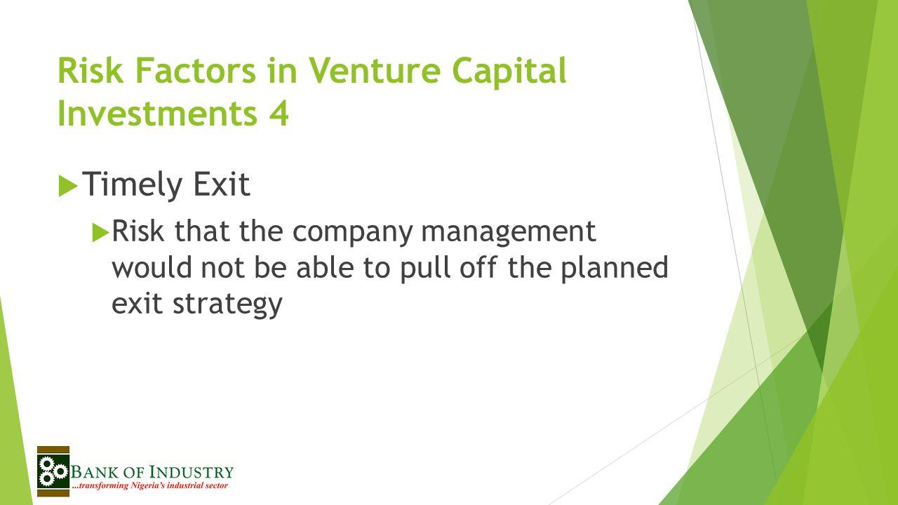 Risk Factors in Venture Capital Investments 4