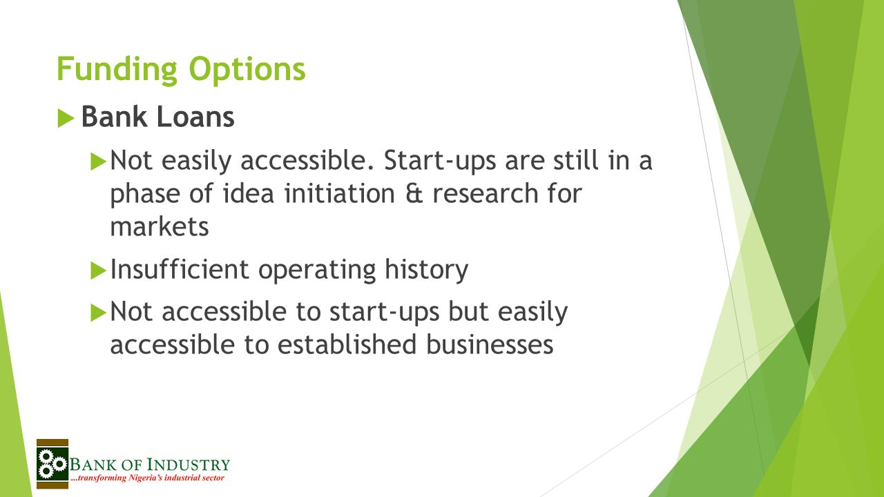 Funding Options Bank Loans
