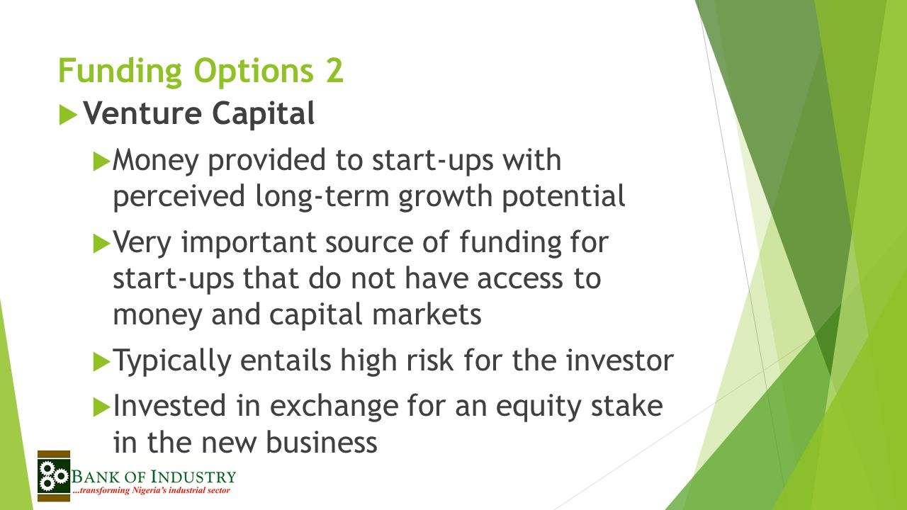 Funding Options 2 Venture Capital
