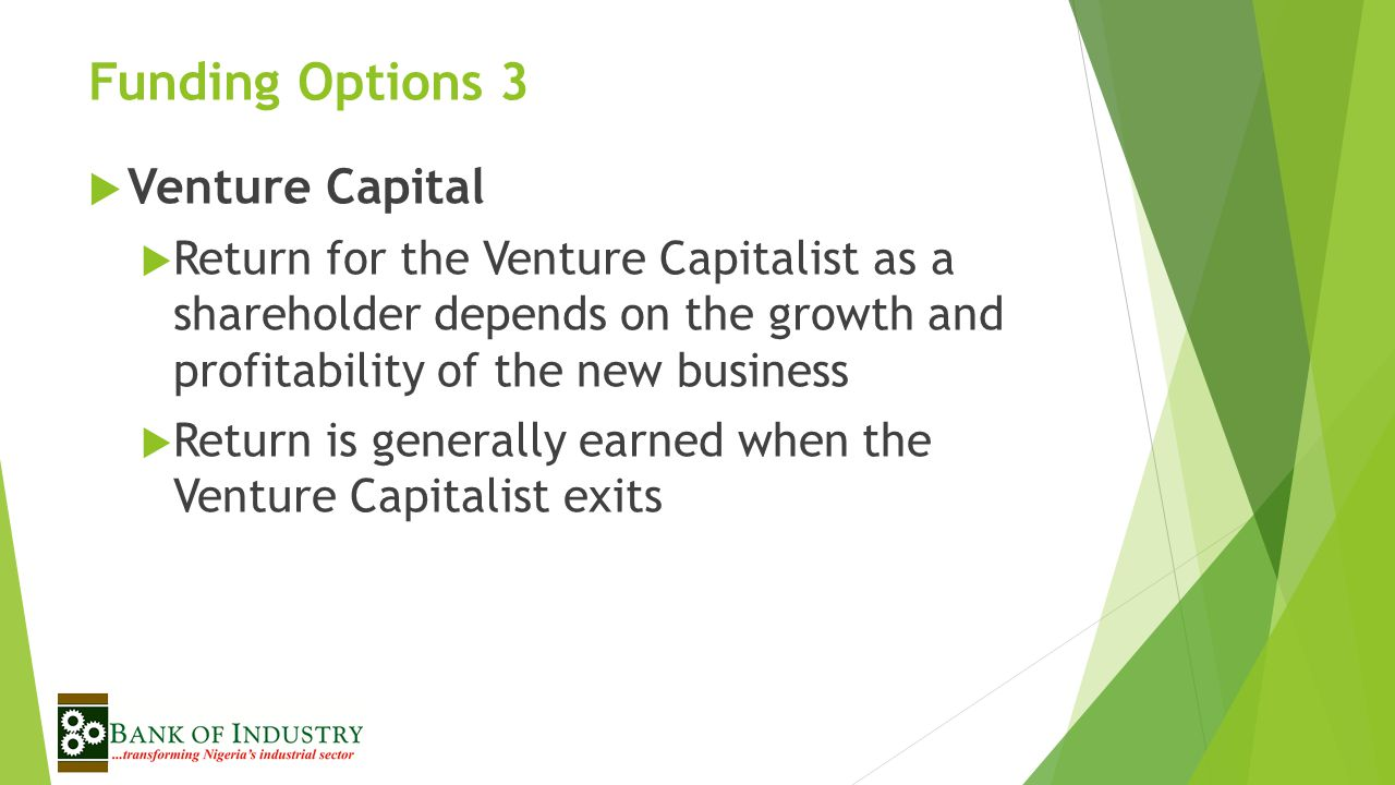 Funding Options 3 Venture Capital