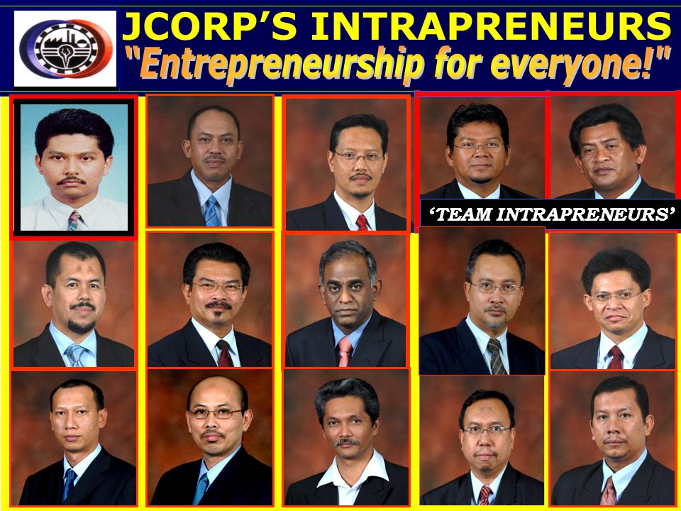 JCORP'S INTRAPRENEURS Entrepreneurship for everyone!