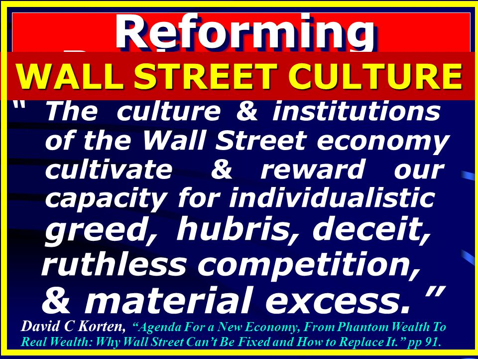 Reforming Business ways