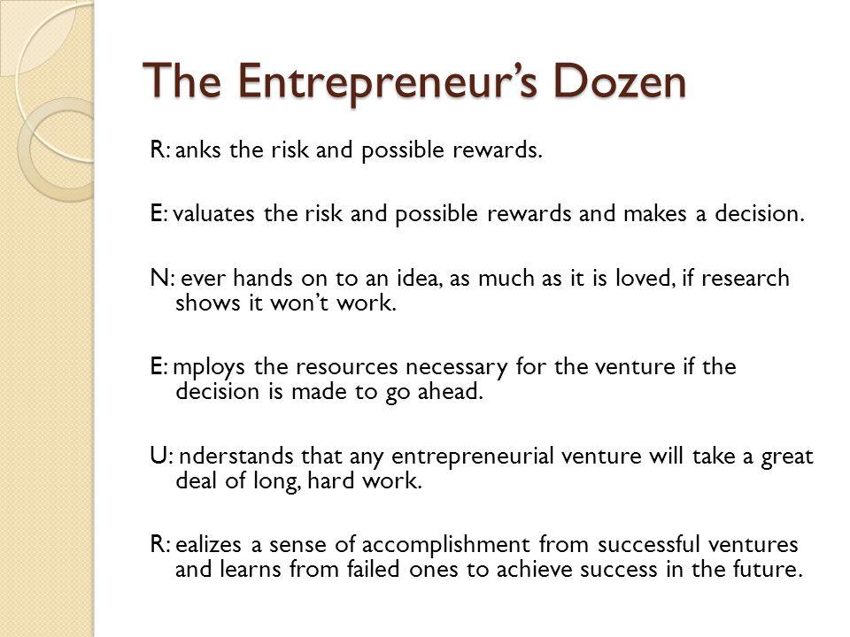 The Entrepreneur's Dozen