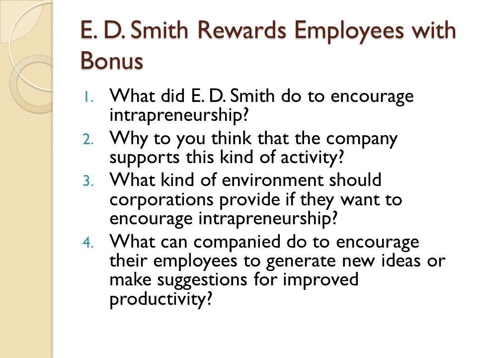 E. D. Smith Rewards Employees with Bonus