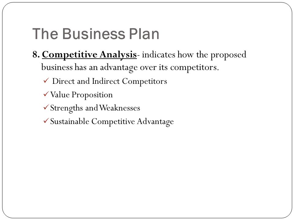 business plan competitors