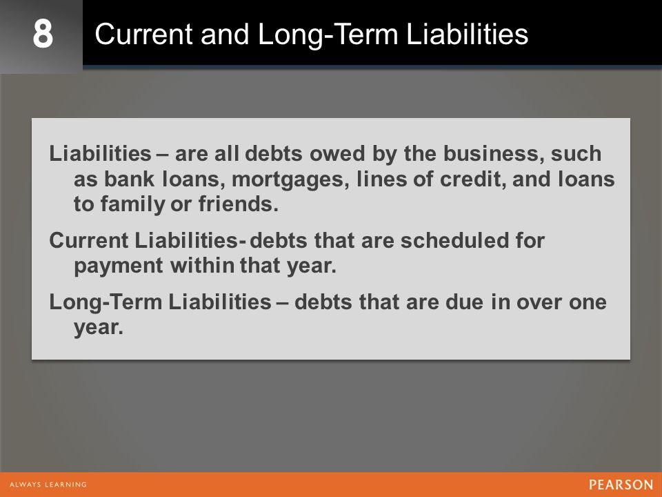 8 Current and Long-Term Liabilities