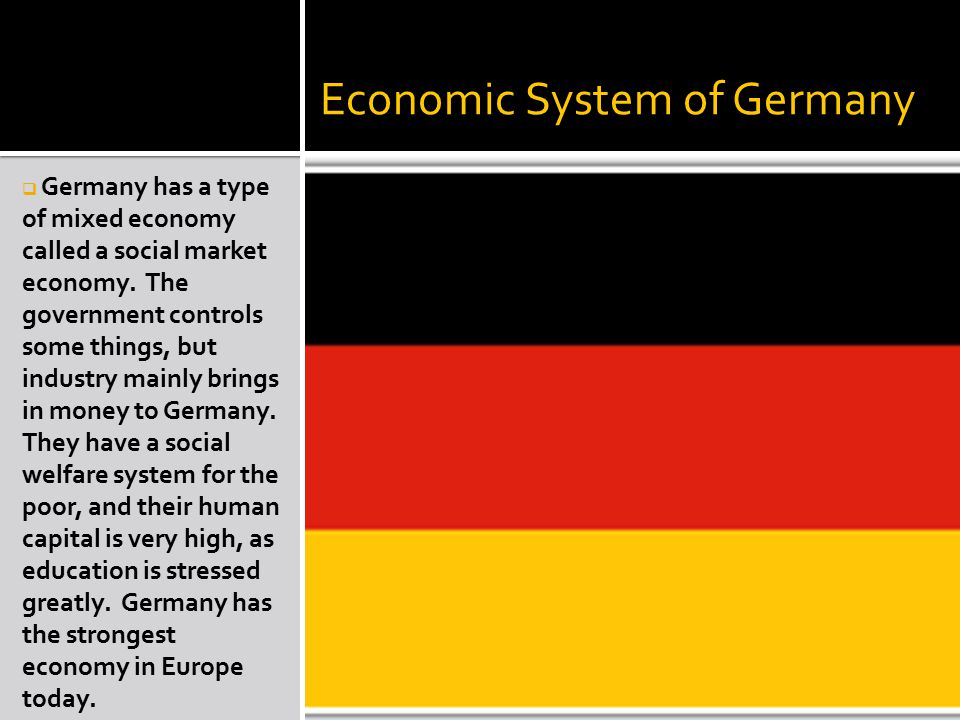 Economic System of Germany