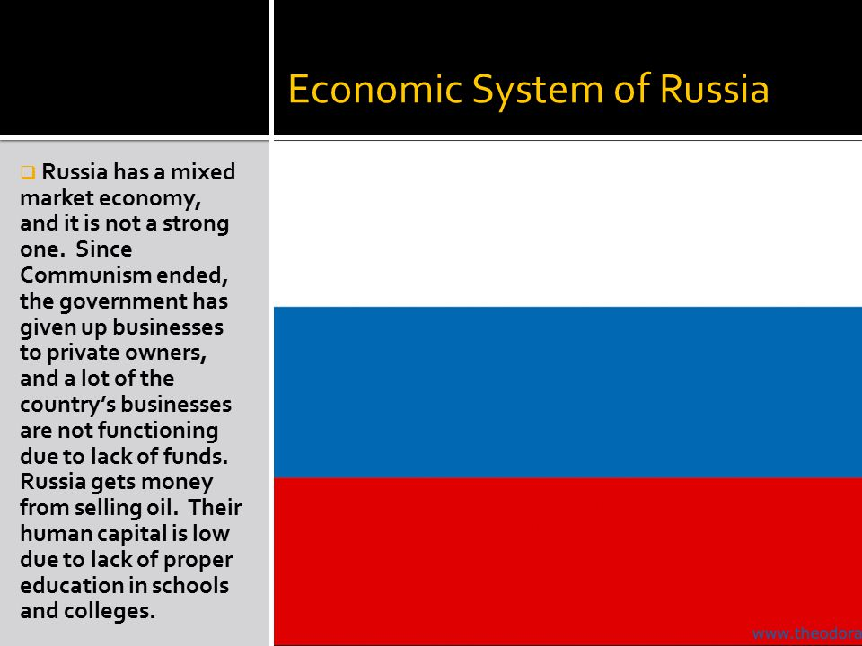 Economic System of Russia