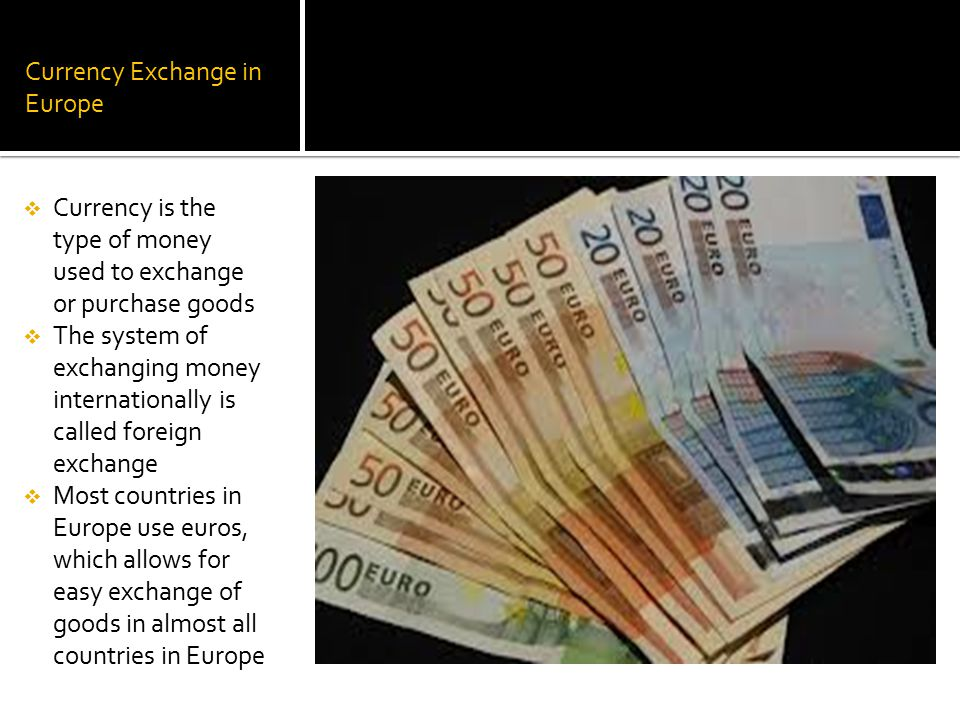 Currency Exchange in Europe
