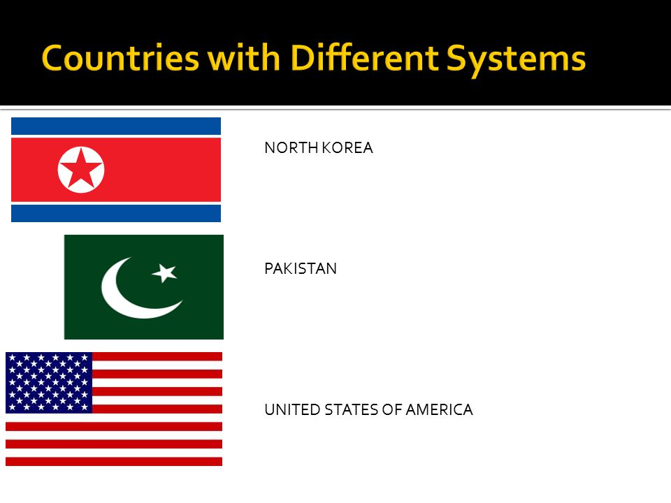 Countries with Different Systems