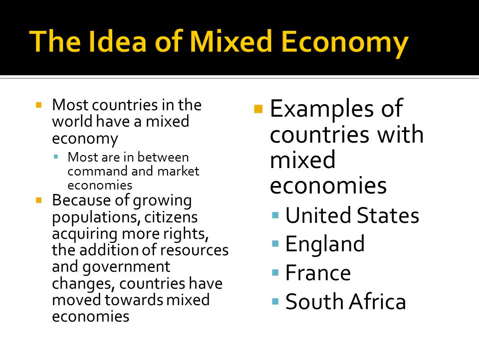The Idea of Mixed Economy