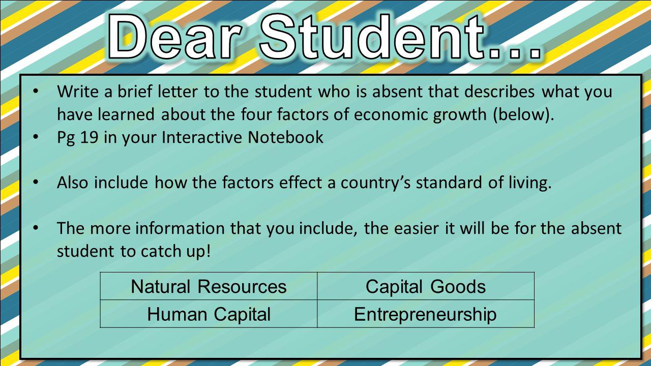 Dear Student…
