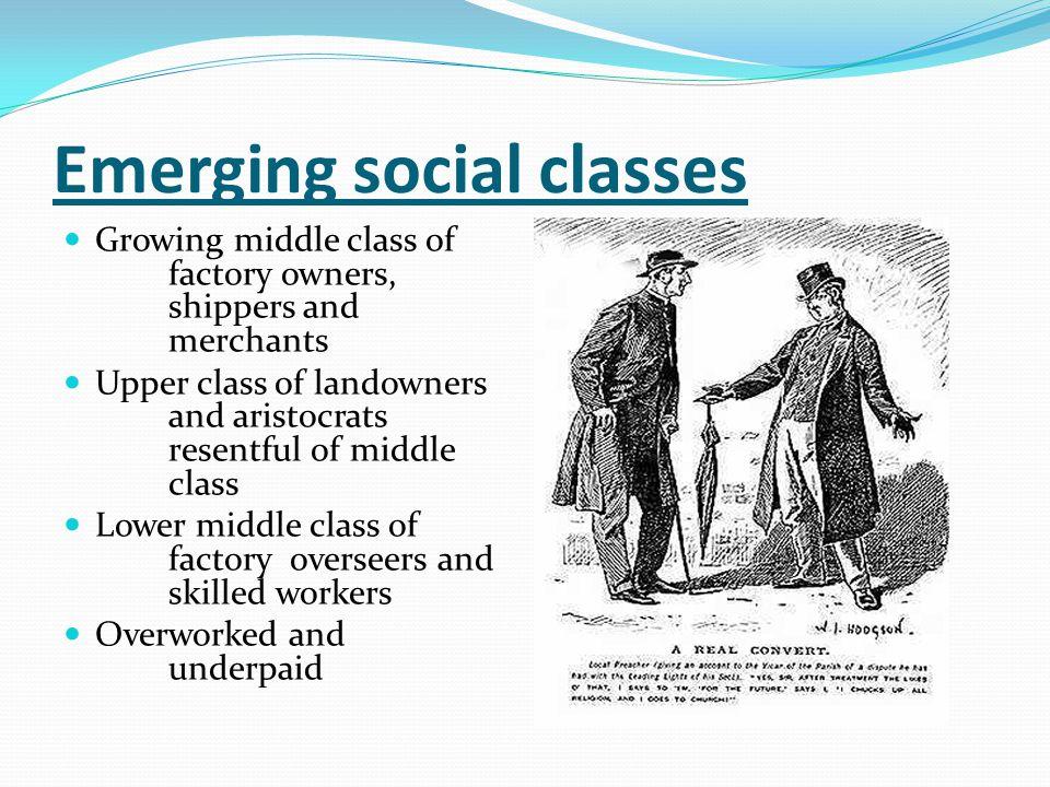 Emerging social classes