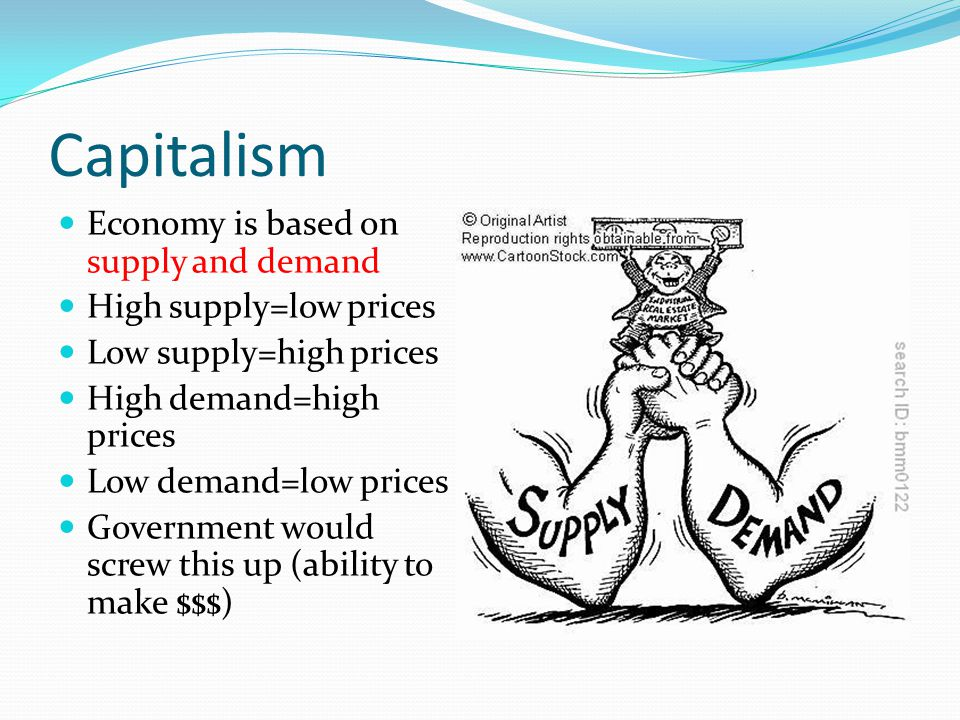 Capitalism Economy is based on supply and demand