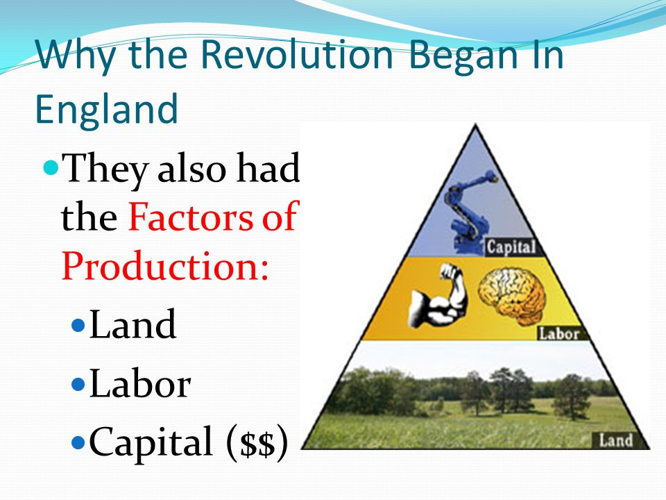 Why the Revolution Began In England
