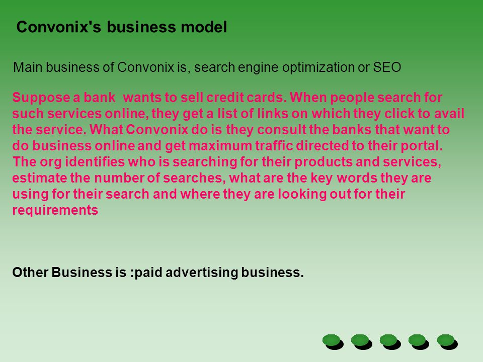 Convonix s business model