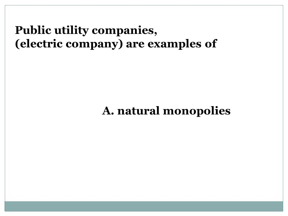 Public utility companies,
