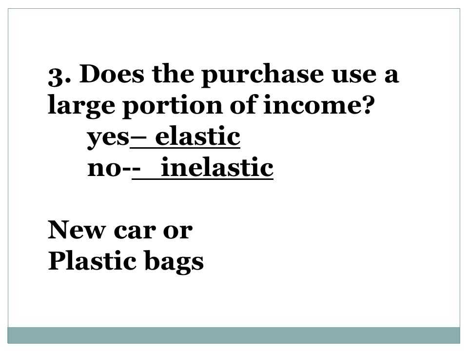 3. Does the purchase use a large portion of income