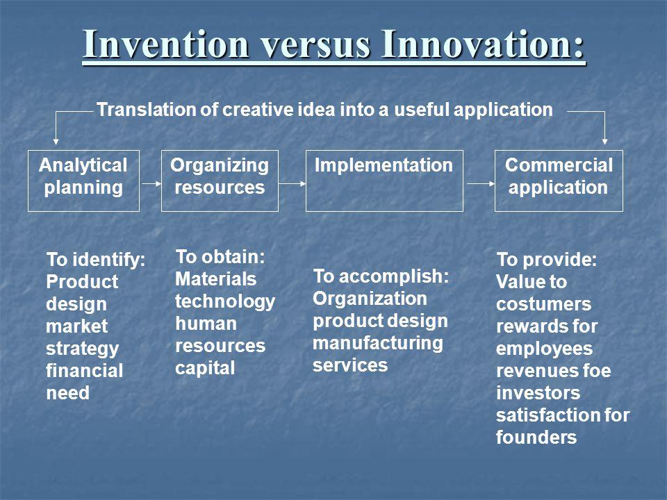 Invention versus Innovation: