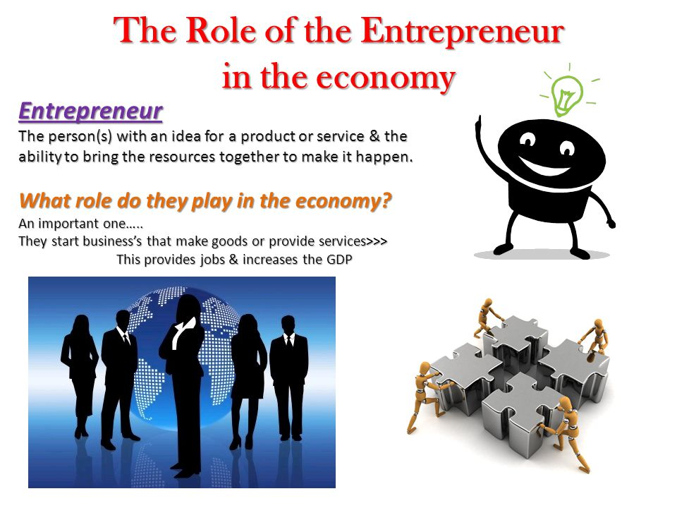 The Role of the Entrepreneur in the economy