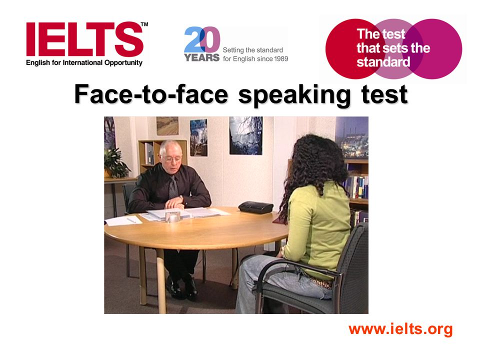 Face-to-face speaking test