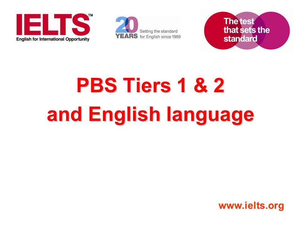 PBS Tiers 1 & 2 and English language