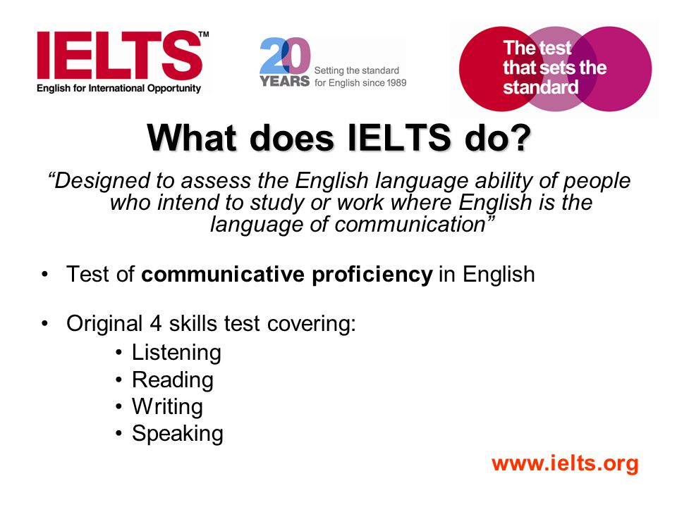 What does IELTS do