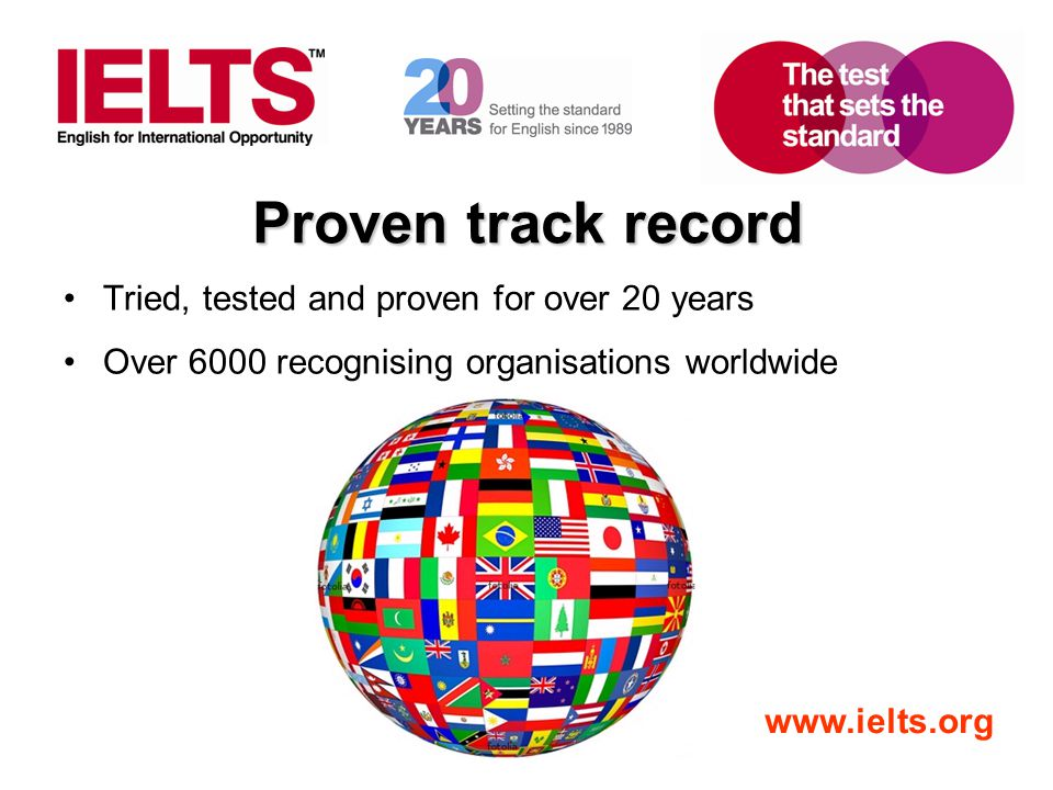 Proven track record Tried, tested and proven for over 20 years