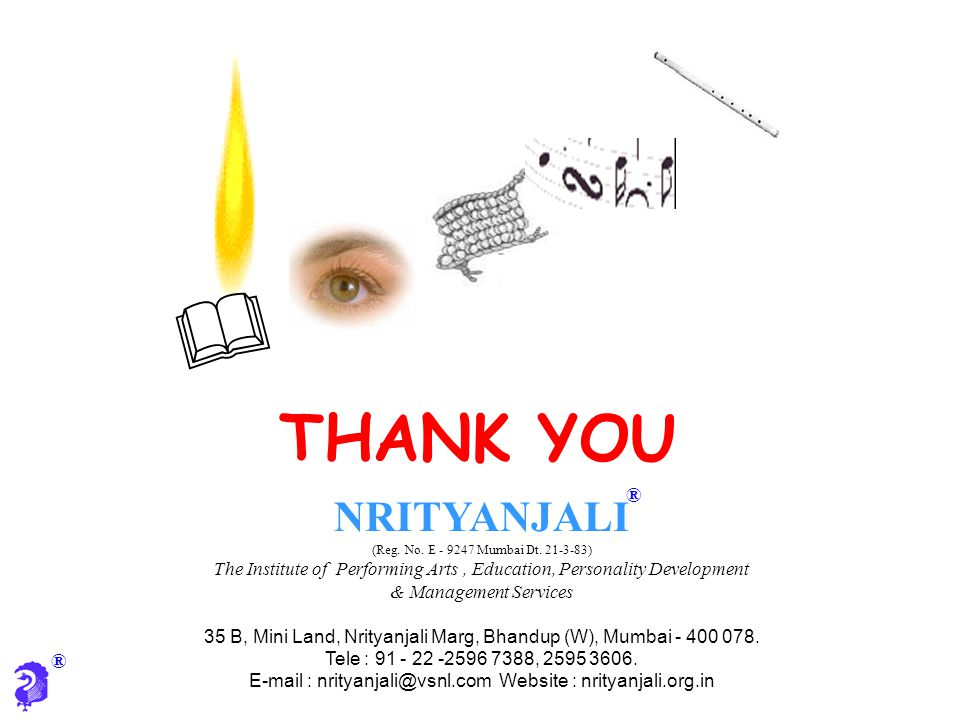 & THANK YOU NRITYANJALI ®