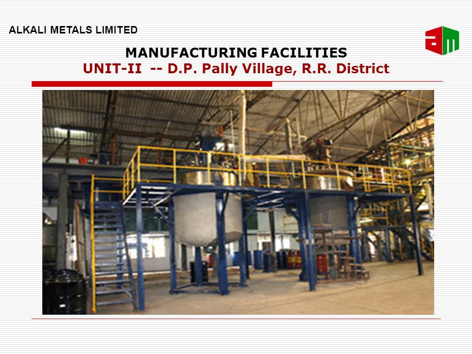 MANUFACTURING FACILITIES UNIT-II -- D.P. Pally Village, R.R. District