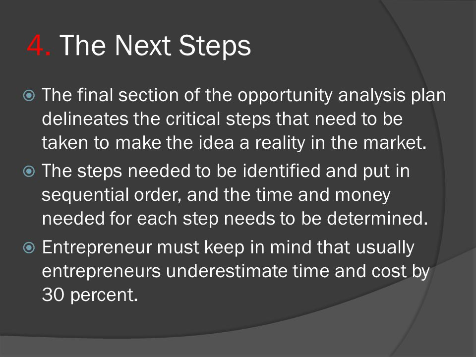 4. The Next Steps