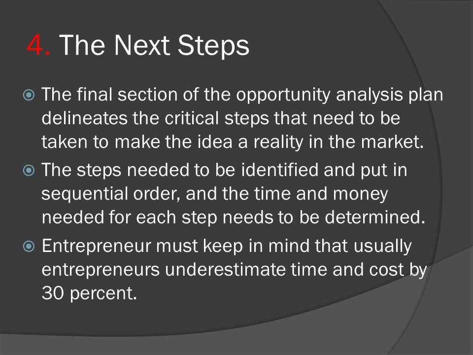 4. The Next Steps