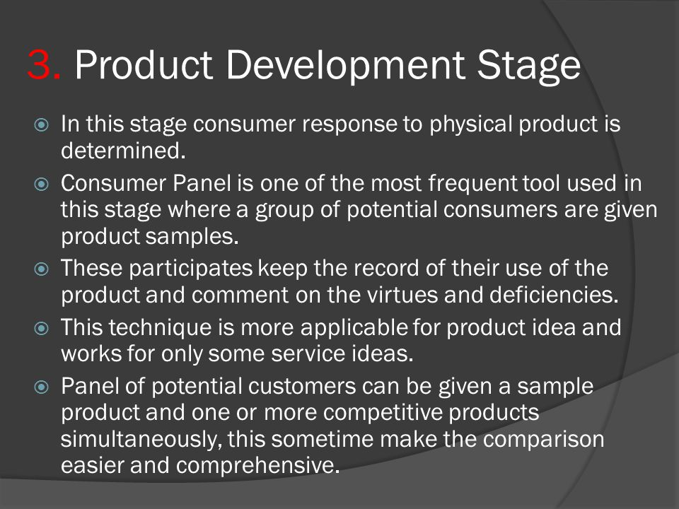 3. Product Development Stage