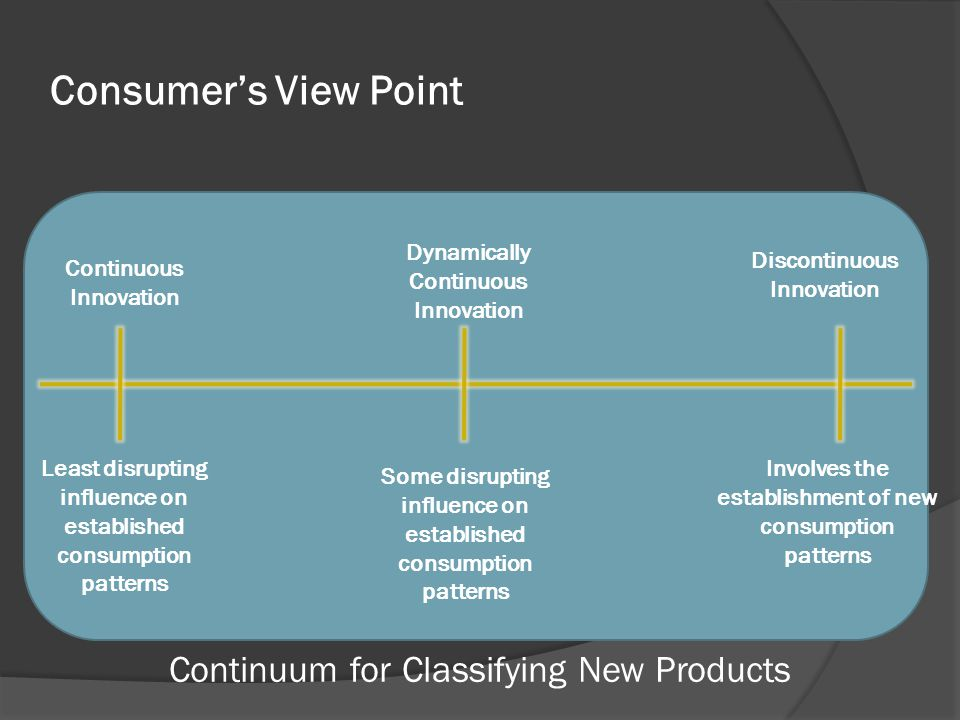 Continuum for Classifying New Products