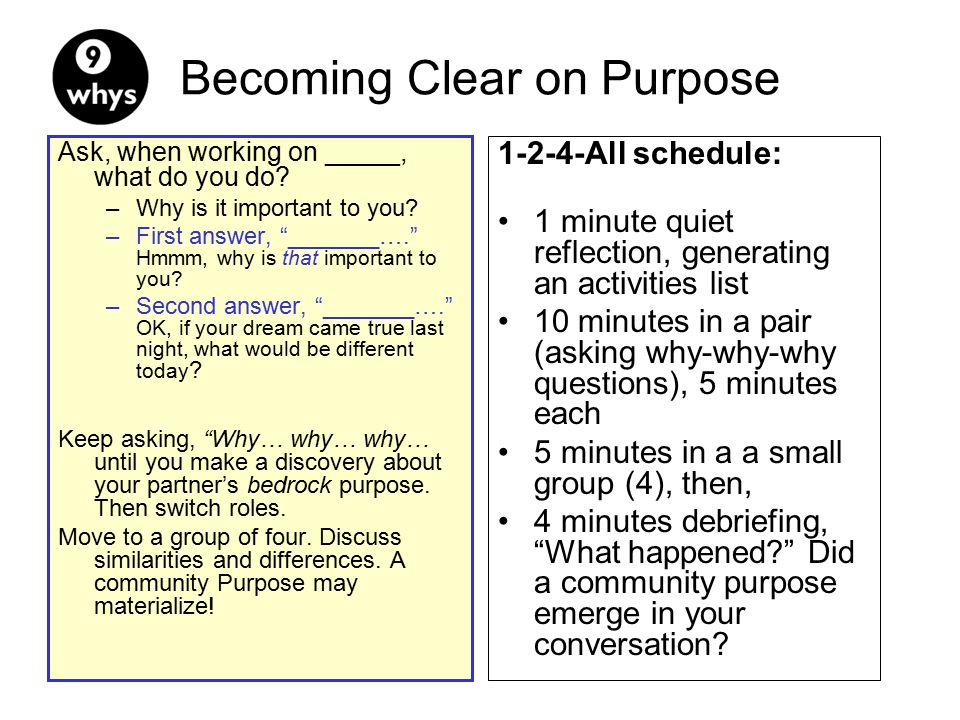 Becoming Clear on Purpose