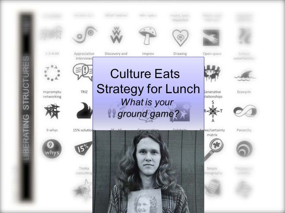 Culture Eats Strategy for Lunch What is your ground game