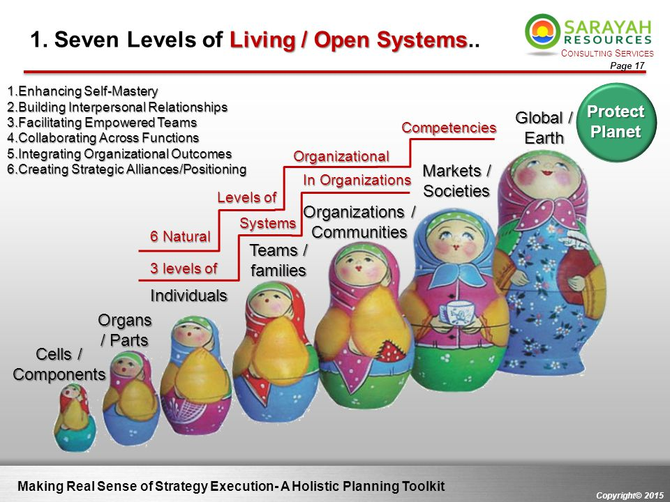 1. Seven Levels of Living / Open Systems..