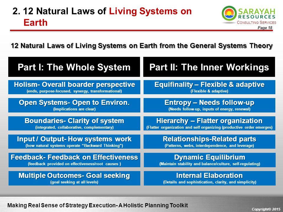 2. 12 Natural Laws of Living Systems on Earth