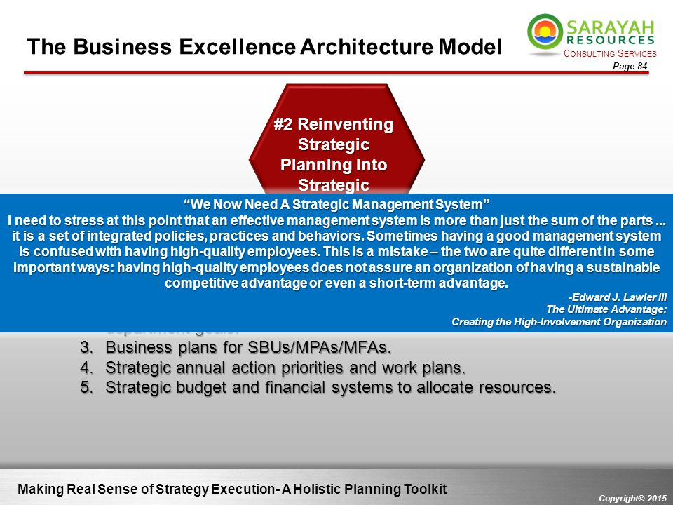 #2 Reinventing Strategic Planning into Strategic Management