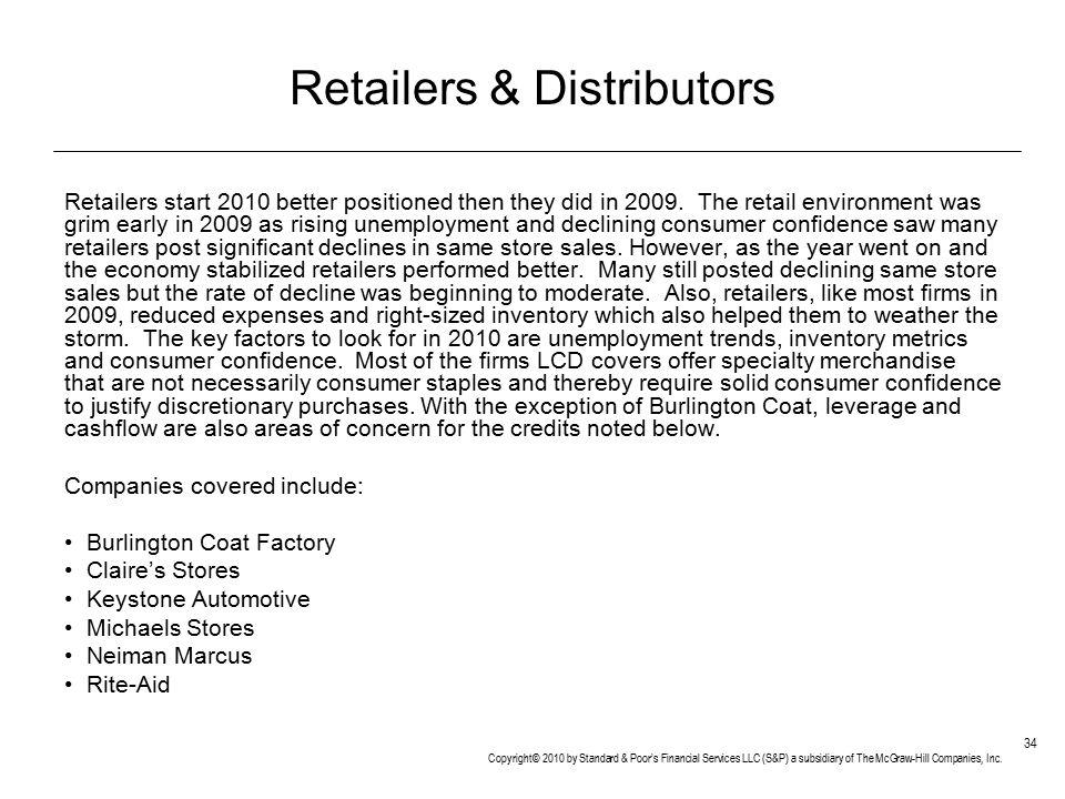 Retailers & Distributors