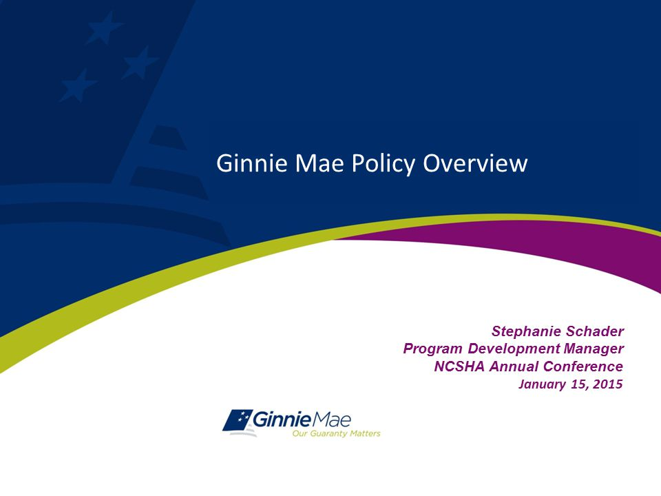 Ginnie Mae Policy Overview