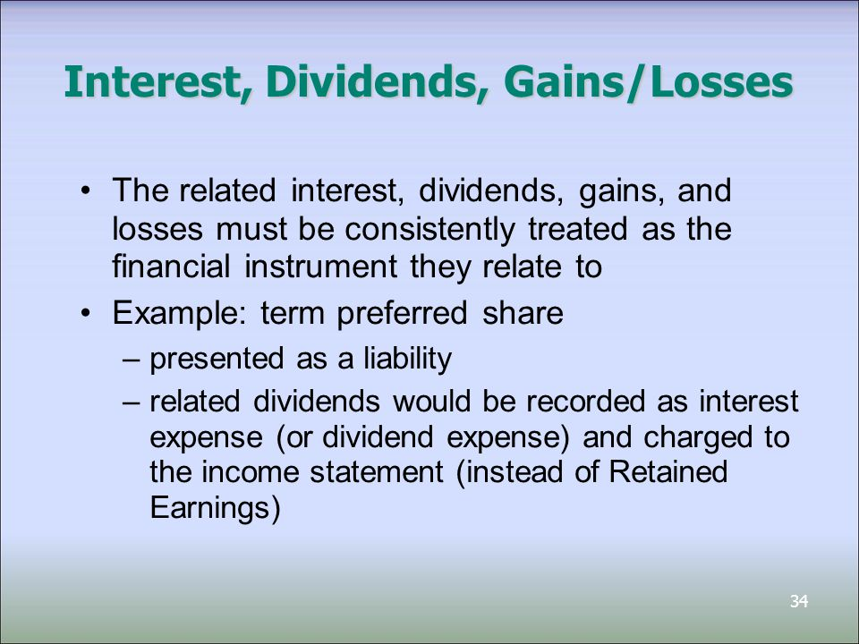 Interest, Dividends, Gains/Losses