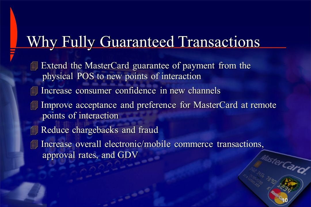 Why Fully Guaranteed Transactions