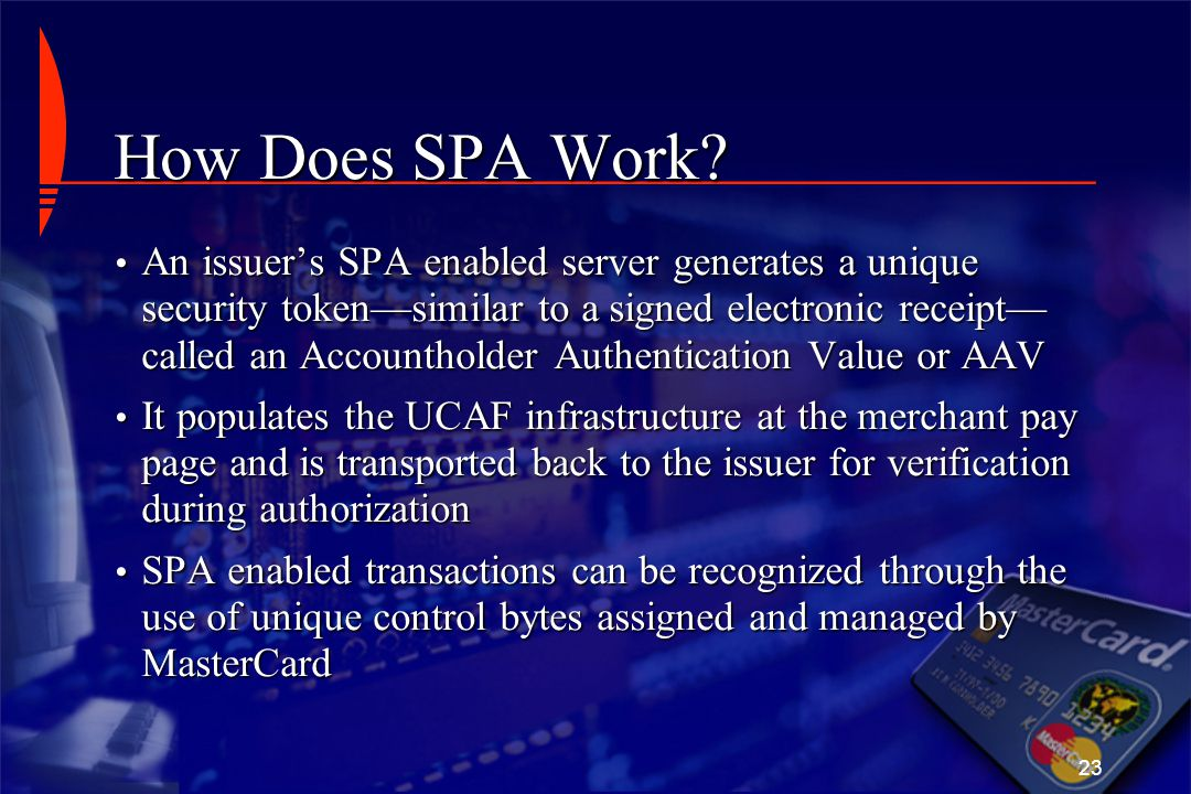 How Does SPA Work